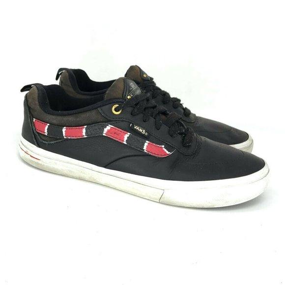 Vans Mens 721454 Black Red Skate Shoes Size 7.5